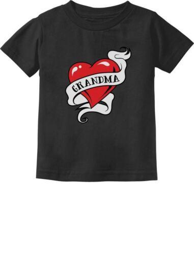 Grandma Heart Tattoo Valentine/'s Day Gift Love Toddler//Infant Kids T-Shirt