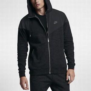 c651a1a7ee4744 Nike Ibrido Windrunner Uomo Giacca con Zip NERE TAGLIA S Casual ...