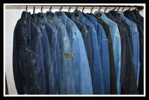 101j L Denim Riders 153438 Vintage Trucker Western Chore 60s Lee Jacket M Blue XxwORA