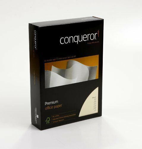 Conqueror 100Gsm Cream CX22 Ultra Smooth A4  Paper 500 Sheets