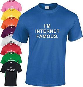 I-039-M-Internet-Celebres-Enfants-T-Shirt-Drole-Jeunesse-Tee-Noel-Ordinateur-Cadeau