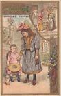 ÉDUCATION CHARITÉ VERTU ENFANT ENFANTINA 1900s IMAGE CARD CHROMO