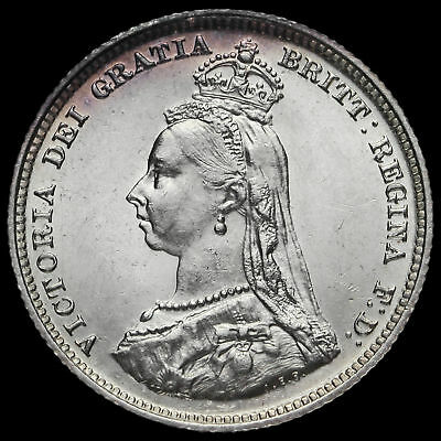 1887 Queen Victoria Jubilee Head Silver Shilling, Scarcer Variety, G/EF