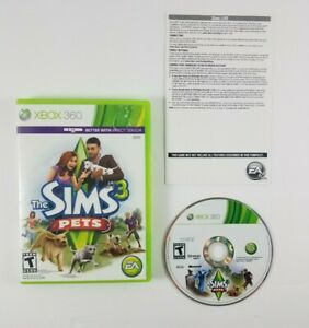 The-Sims-3-Pets-Microsoft-Xbox-360-2011-Includes-Disc-Case-and-Insert