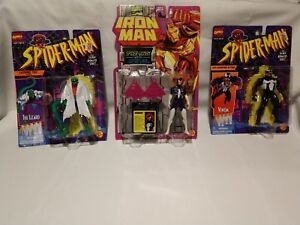 Lot vintage de 3 figurines jouets Biz 1994-96 venin lézard araignée-femme Nouveau !!!