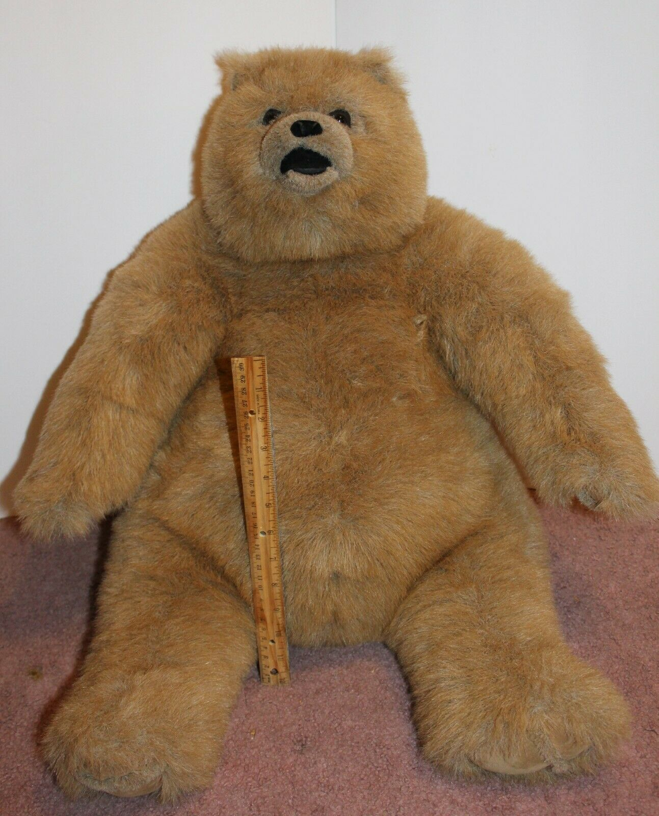Big Big Teddy Bear Manhattan Toy Company 19  1997 Rare Huge Large Seated Vintage
