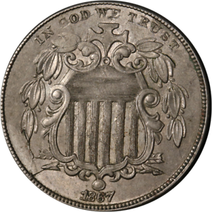1867 Shield Nickel Great Deals From The Executive Coin Company