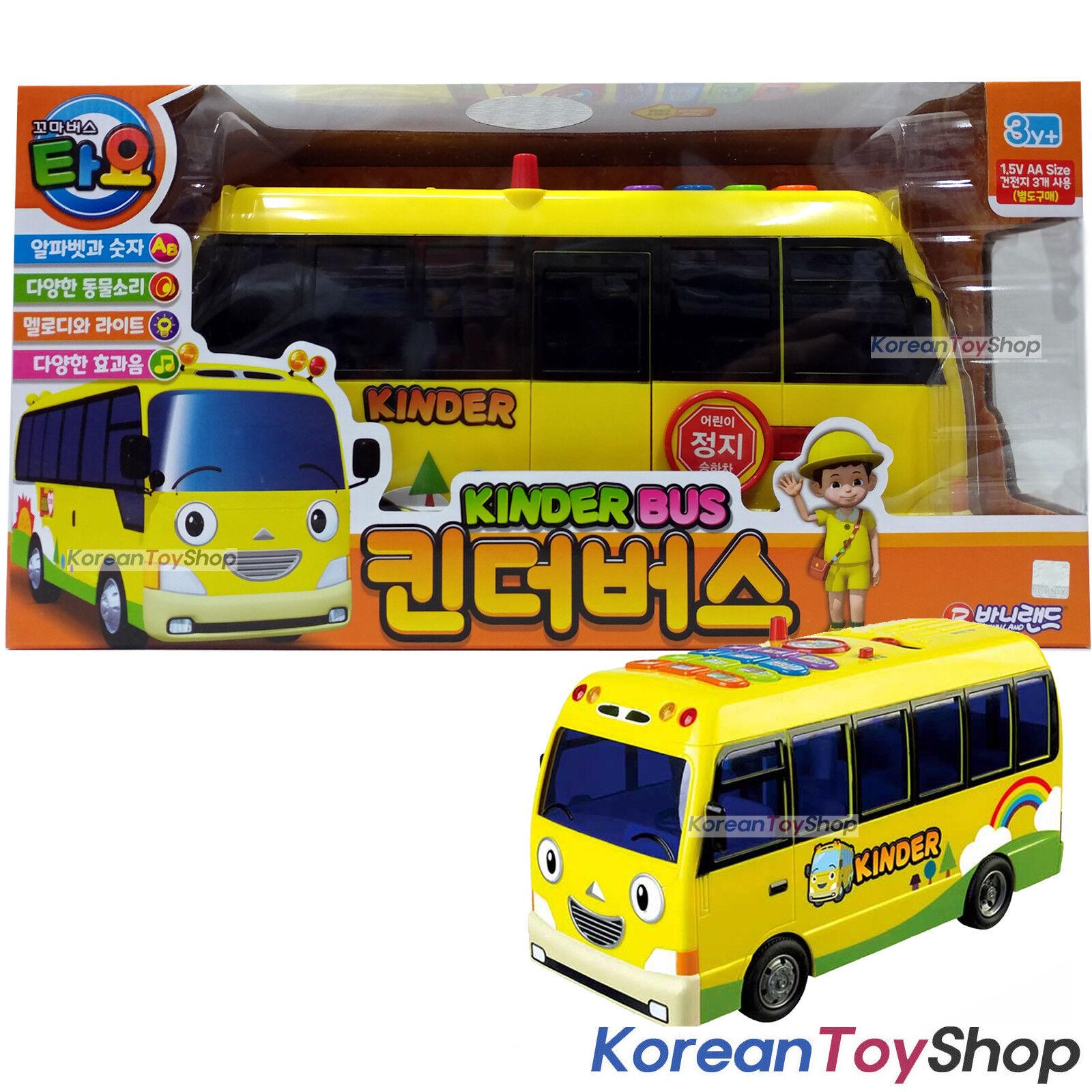 Tayo liten buss BIG KINDER buss leksaksbil Ljud och lätta effekter Djur Ljud 12