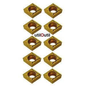 10-Plaquettes-Insert-CCMT-09-T3-04-CARBURE-usinage-tournage-aciers-et-inox