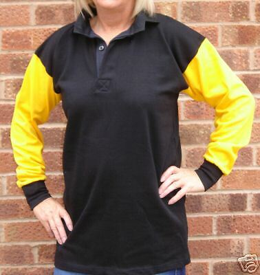Rugby Shirt  with Long Sleeves in 100/% Cotton  Medium