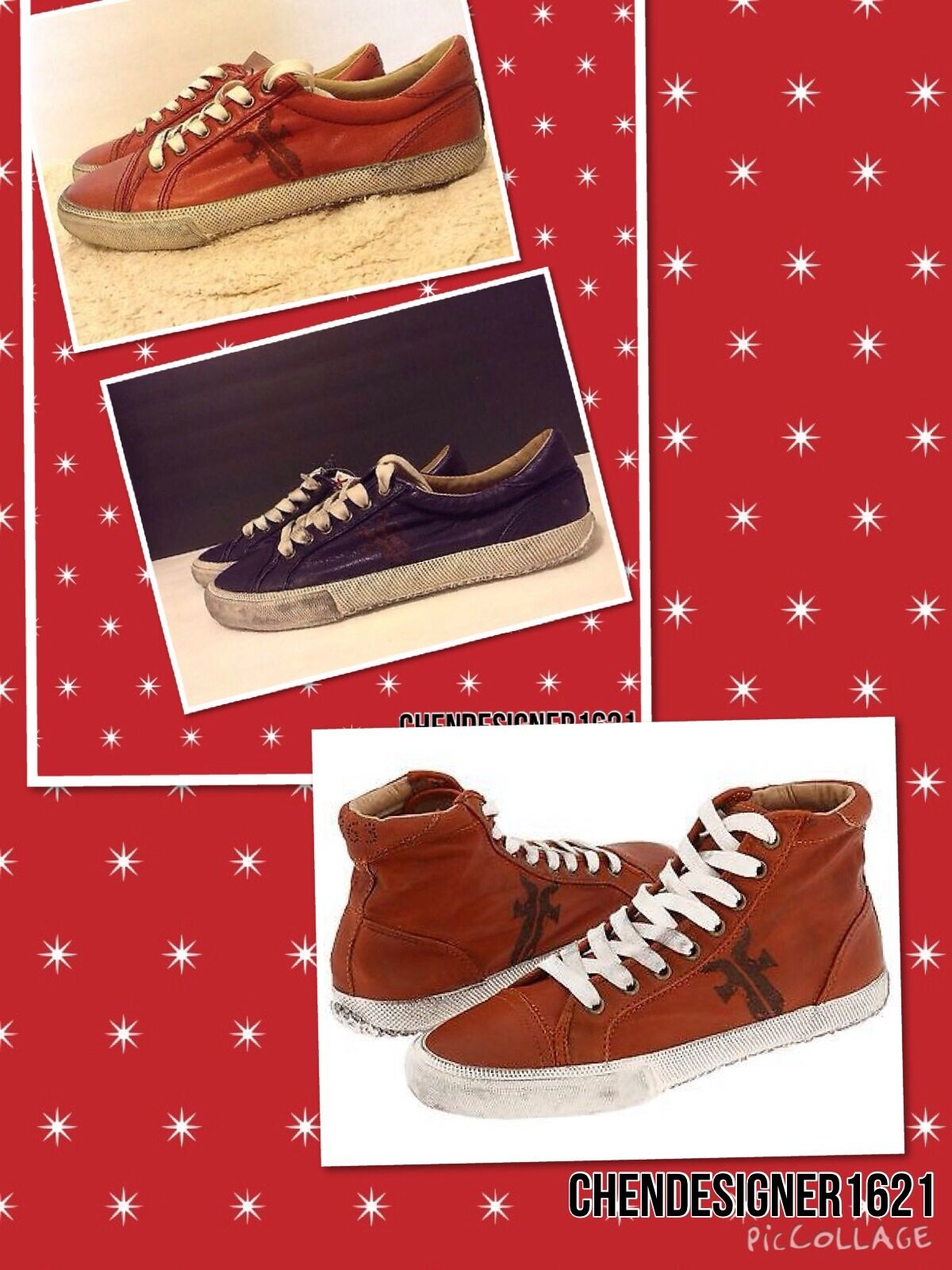 Frye Cuero Tamaño Tamaño Tamaño 8,9,10 Kira baja o alta Top tenis zapatillas de encaje, púrpura, vino  promociones de equipo