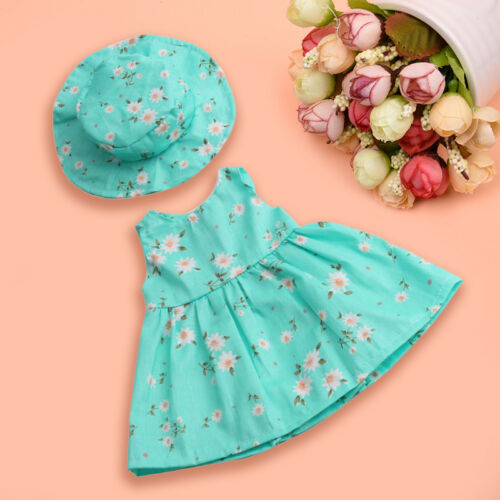 Fashion Summer Floral Dress Party For 18 Inch Girl Doll Clothes Accessory