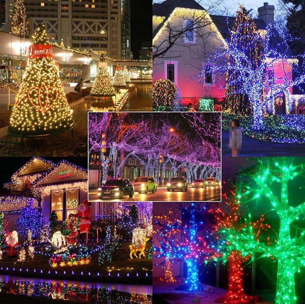 Festival Party String Lights : 100/200 LEDs Fairy String Lights For Festival Party Christmas Xmas Wedding Decor eBay