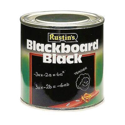RUSTINS 500ML BLACKBOARD BLACK PAINT QUICK DRY MATT CHALK WALL NON REFLECTIVE