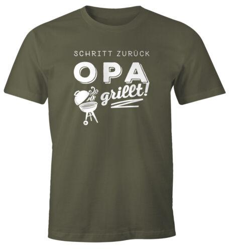 T-Shirt Hommes pas en arrière Papa Papy Barbecue Fun-shirt Barbecue BBQ Barbecue-Shirt