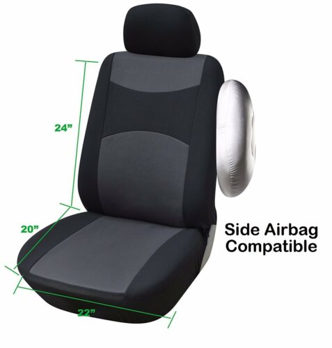 M1410 Tan 2 Front Bucket Fabric Car Seat Cover Compatible For Chrysler