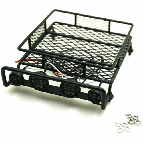#A Luggage Roof Rack W// LED Light for Axial SCX10 D90 CC01 1//10 RC Crawler Car