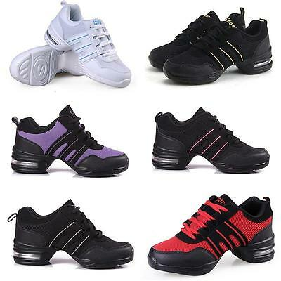Classic Comfy Modern Jazz Hip Hop Dance Shoes Breathable Sneakers Black White HY