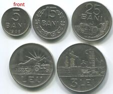 National Emblem Romania 15 Bani 1966 Almost Uncirculated Coin