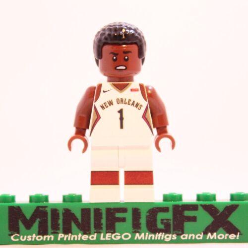 Custom Lego ZION WILLIAMSON Minifig NBA Basketball New Orleans Pelicans Duke