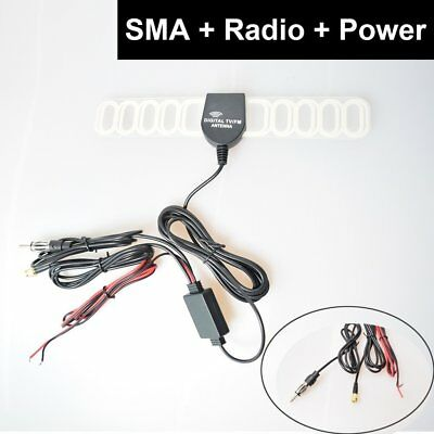 Car Automobile Digital TV FM Antenna Signal Amplifier Booster IEC Plug ISO DIN