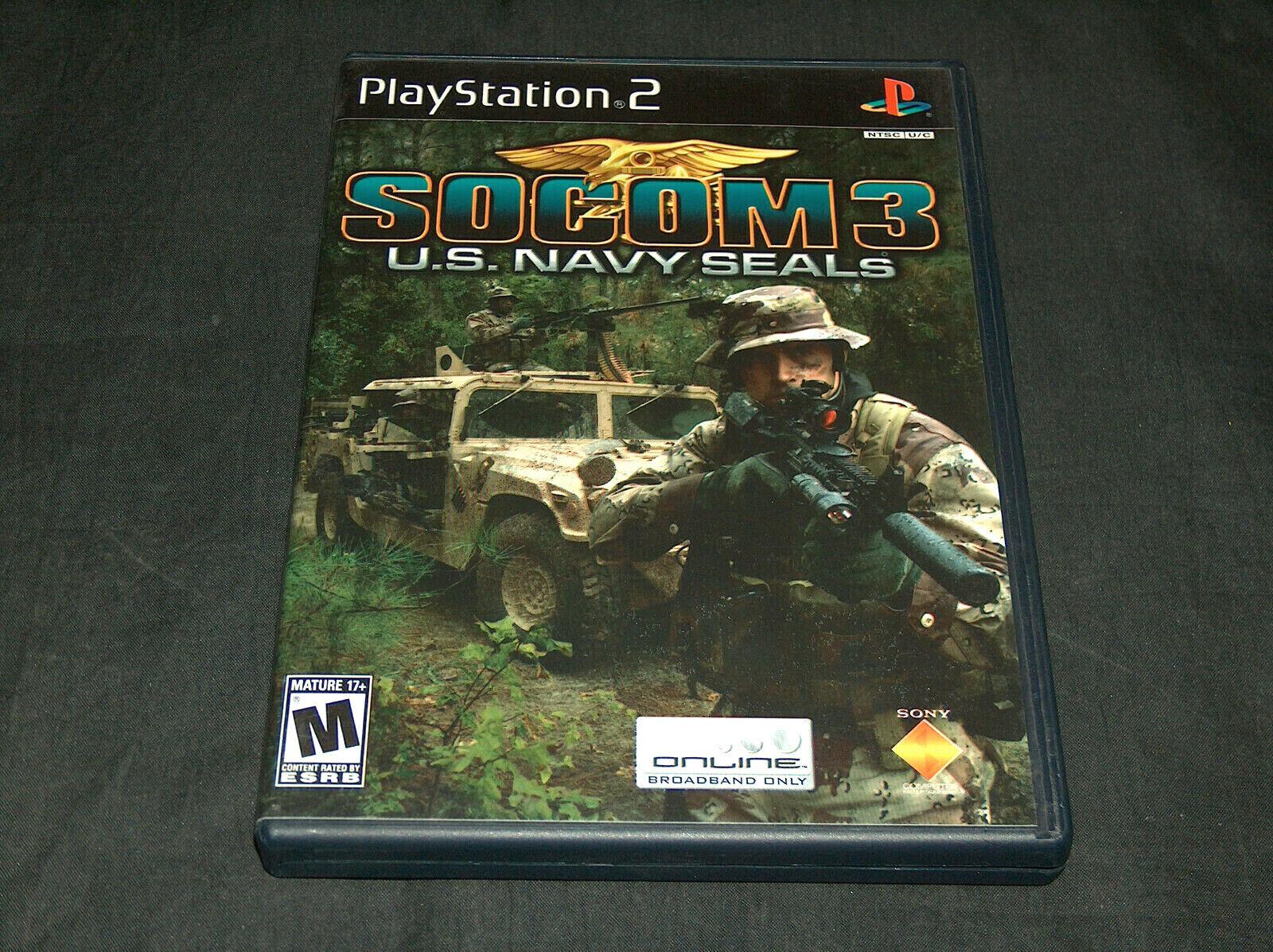 2005 Sony PlayStation 2 PS2 SOCOM 3 U.S. Navy Seals Online Video Game M NMMT