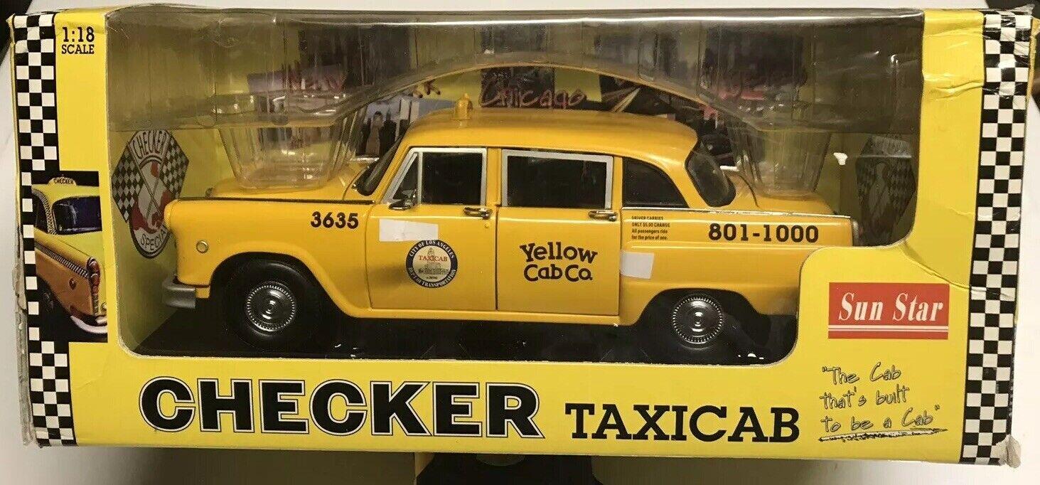 SUN estrella Los Angeles Checker TAXI 118 Nuovo di zecca con scatola