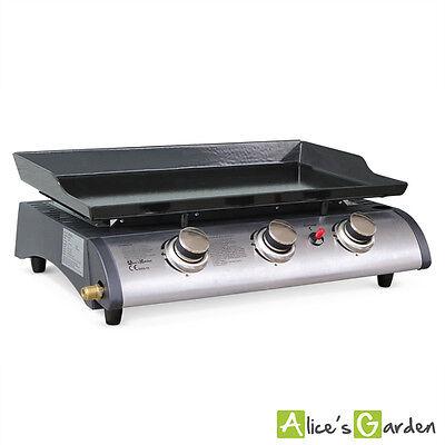 Plancha au gaz 3 feux, Porthos 3 brûleurs, 7,5 kW barbecue cuisine extérieure gr