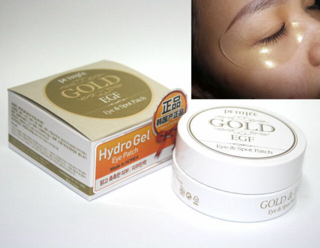 (6 Pack) PETITFEE Gold and Snail Hydrogel Eye Patch 18actives Retinol Anti-Aging Night Cream
