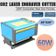 miniature 2 - 60w CO2 Machine Gravure Laser Gravurmaschine 700 x 500mm Laser-gravure Graveur