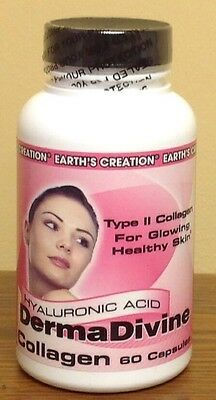 Derma Divine Hyaluronic Acid & Type II Collagen Hydro-Fix, 60 Capsules