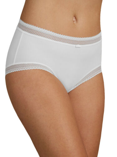 Size 6 to 20 M/&S WHITE Lace Trim Midi Knickers IRREGULAR