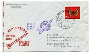 1962 Sahlenburg Drg Raketen-flugtag Befordert Rakete Hamburg Deutsche Space Pour RéDuire Le Poids Corporel Et Prolonger La Vie