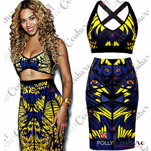Womens-Bandage-Bodycon-Two-Piece-Bralet-Crop-Top-and-Midi-Skirt-Ladies-Dress-Set