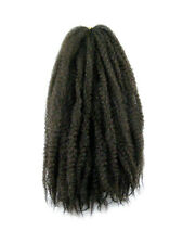 CYBERLOXSHOP MARLEY BRAID AFRO KINKY HAIR #4 DARK BROWN DREADS SYNTHETIC