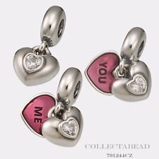 Authentic Pandora Sterling Silver Dangle You & Me Bead 791244CZ *SPECIAL*