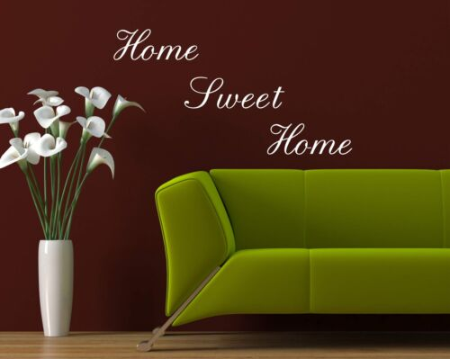 Home Sweet Home wall quote sticker wall decals mural art living room decor