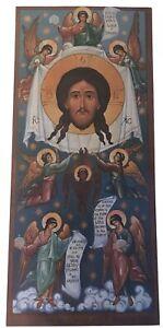 Vtg-Ortodoxo-Iglesia-Icon-Jesus-Cristo-Santa-Cara-Angel-Carta-Oracion-Antiochian