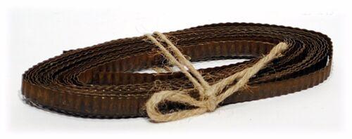 "Metal Corrugated Rust or Galvanized Ribbon .25/"" x 15 ft Wedding Christmas Crafts"