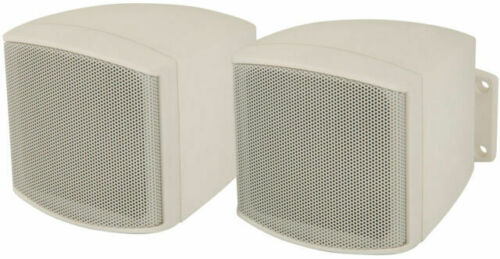 30W Pair Background Speakers 100V//8OHM Mini Satellite Wall Mount PA System