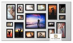 17pcs-Wood-Wooden-Effect-Multi-Picture-Photo-Frames-Collage-Set-Various-Colors