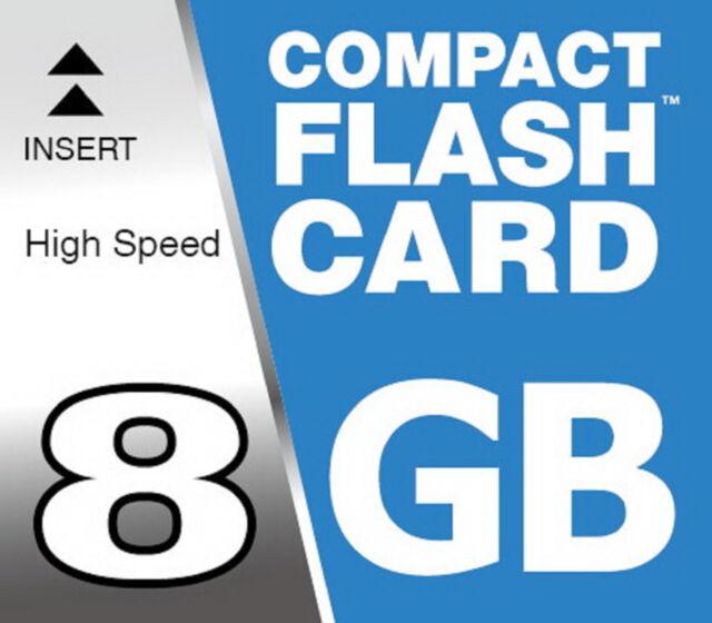 8 Gb Flash Compatto Scheda di Memoria Memory Card Cf per Olympus E-420