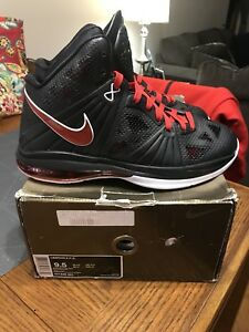 ddc6c562381f NIKE LEBRON 8 PS PLAYOFF BLACK RED WHITE 441946-001 SIZE 9.5 W Box ...
