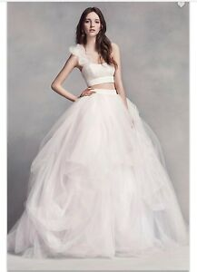 Image Is Loading WHITE By Vera Wang Unique 2 Piece Wedding