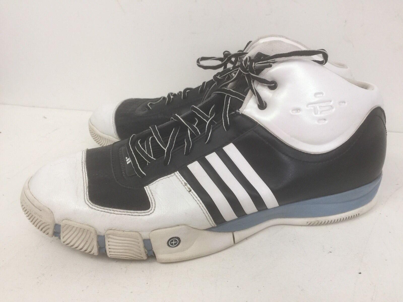 Adidas squadra firma scarpe bianco nero   blu, numero 16 in euc   Moda Attraente    Uomini/Donna Scarpa