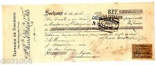 FRANCE BILLET à ORDRE MANDAT SOCHAUX  1898 TIMBRE Tannerie ROSSEL-WETZEL