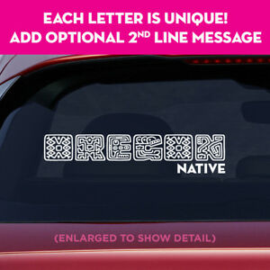 OREGON-state-unique-lettering-vinyl-decal-sticker-add-message-on-2nd-line