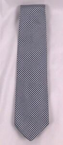 Men-039-s-Ermenegildo-Zegna-Blue-Checkered-Silk-Neck-Tie-Made-in-Italy