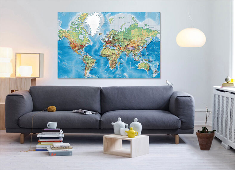 3D Karte der Welt 622 Fototapeten Wandbild BildTapete Familie AJSTORE DE