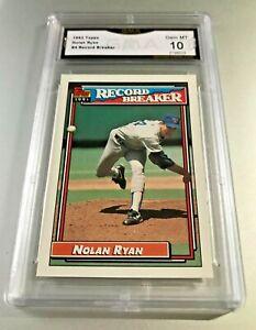 NOLAN-RYAN-HOF-RECORD-BREAKER-1992-Topps-4-GMA-Graded-10-Gem-Mint